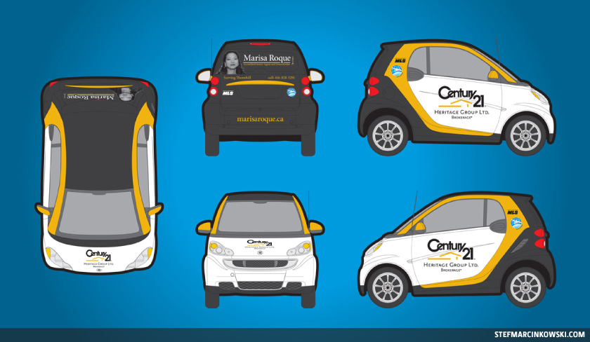 Vehicle Wrap Smart Car Stef Marcinkowski