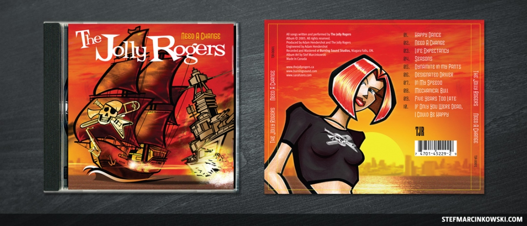 The Jolly Rogers CD cover + CD back cover and spines